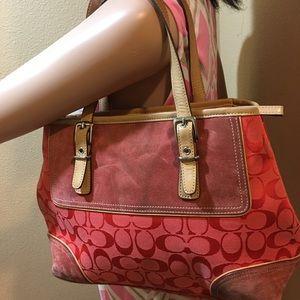 Coach A04J-6892  signature satchel jacquard bag